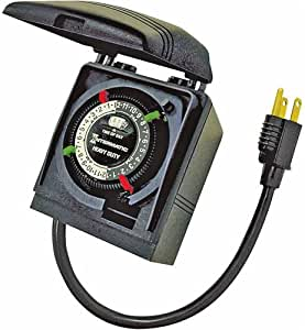 Amazon.com : Intermatic 24 Hour Outdoor Christmas Light Plug-In Timer : Garden & Outdoor