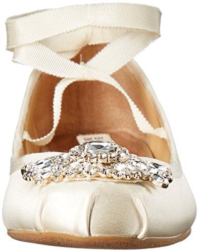 Badgley Mischka Women's Karter Ballet Flat Ivory SLWv7WSoq