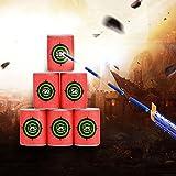 Yosoo 12 Pcs Dart Foam Gun Shoot EVA Soft Bullet Target Kids Toy For NERF N-Strike Blasters