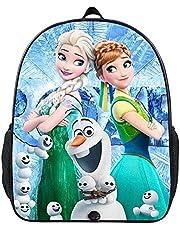 Fr-oz-en ryggsäck, is- och snöäventyr barnryggsäck, dagisryggsäck, 3D-tryck, flickryggsäck, bekväm och fritid, multifunktionell (A06,16 tum (grundskola))