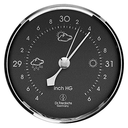 Precision Aneroid Barometer 3.25 inch Diameter Round Dial with Chrome Bezel