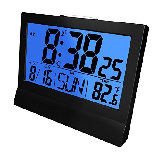 Coby CBC-51-BLK Awake Led Alarm Clock