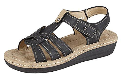 Boulevard - Zapatos con correa de tobillo mujer Negro - negro