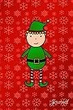 Journal: Red snowflakes cute Christmas elf notebook