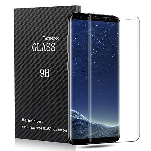 Samsung Galaxy S8 Screen Protector,CBoner Tempered Glass 3D Touch Compatible,9H Hardness,Bubble (1Pack)