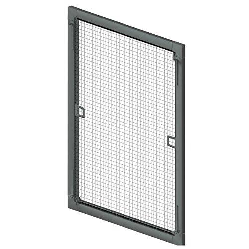 Insektenschutz Fliegengitter Fenster Spannrahmen weiss (RAL 9016) braun (RAL 8017) anthrazit (RAL 9011) 75x75cm / 100x130cm / 130x150cm Breite X Höhe (Anthrazit, 100x130 cm (Breite X Höhe))