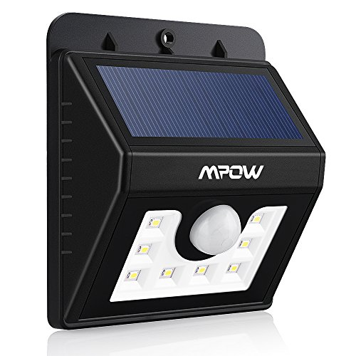 Amazon Lightning Deal 53% claimed: Mpow Solar Light Solar Power Light Outdoor Light Waterproof Wireless Security Motion Sensor Light 20 LED Night Lighting with 3 Intelligent Modes for Home Wall Garden Yard Path Patio