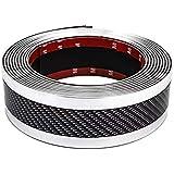 Storystore車 ドアエッジモール カーラッピングフィルム ステップ バンパー 車傷保護 超粘着 粘着剤付き テープ式 カーボンシート ドアエッジプロテクター 幅5cm*3m (5cm*3m, 銀)