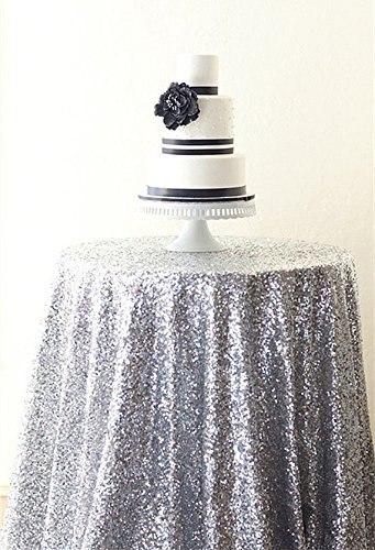 Overlay Vintage Silver (B-COOL Silver Sequin Tablecloths 50