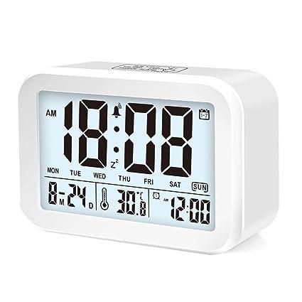 Smart LED reloj despertador, despertador digital, 3 modos de ...