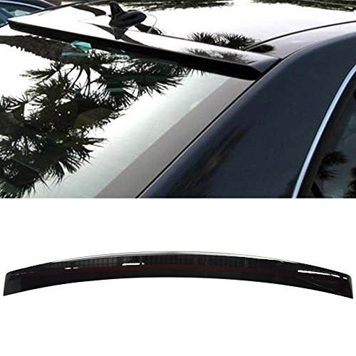 e-painted 2010-2016 Benz E-Class W212 | ABS OEM Painted # 040 Black - Other Color Available Rear Trunk Tail Spoiler Wing by IKON MOTORSPORTS | 2011 2012 2013 2014 2015 (Oem Rear Spoiler)