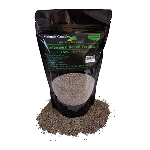 Bonsai Fertilizer - Slow Release - With Free 1g Scoop - Immediately fertilizes and then fertilizes over 1-2 months - Good For House Plants And Cactus (12 Ounce 5-7-4) (7 1 4)