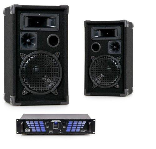 1200W Party DJ PA Anlage Boxen Verstärker Beschallungsanlage Musikanlage DJ-275