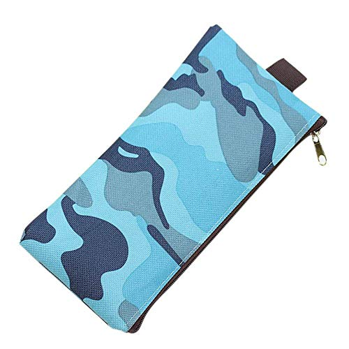 charmsamx Camouflage School Pencil Case Big Capacity Canvas Pencil Pouch Bag Large Storage Office Stationery Organizer Pen Pouch Holder Mini Bag Trendy School Supplies for Gilrs Boys and Adults from charmsamx