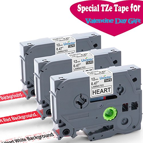 12 Mm Ribbon (3-Pack Professional Gift Ribbon, Compatible Brother P-touch Cube, PT-D210, PT- H110, PT-D600 Label Maker, for TZe TZ Tapes 1/2 Inch (0.47Inch), 13.12 Feet (4M) Roll)