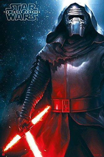 Star Wars: episodio 7 cartel Kylo Ren espada de fuego (61 cm ...
