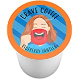 Crave Flavored Coffee Pods, Compatible with 2.0 K-Cup Brewers, Blueberry Vanilla, 40 Count