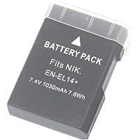 ENEL14+ Rechargeable Battery for Nikon EN-EL14 Nikon EN-EL14a and Nikon Coolpix P7800 P7700 P7100 P7000 Nikon Df Nikon D5600 D5500 D5300 D5200 D5100 D3400 D3300 D3200 D3100