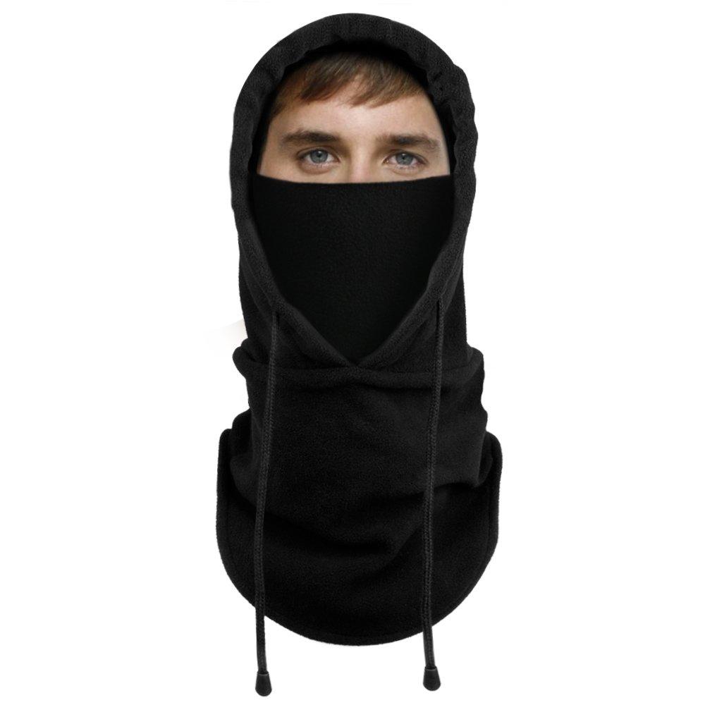 4cae63f8ab6a6 Lonew Balaclava Fleece Hood - Windproof Ski Face Mask - Heavyweight Warmer  Protective Hat Headgear for Cold Winter Motorcycle
