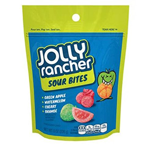 (Hershey's Jolly Rancher Sour Bites Soft & Chewy Candy, 8 oz)