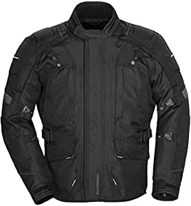 Tourmaster Transition Series 4 Men's Textile Motorcycle Touring Jacket (Black, X-Large)