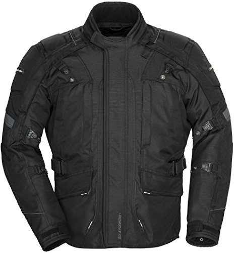 Tourmaster Transition Series 4 Men's Textile Motorcycle Touring Jacket (Black, XX-Large) ()