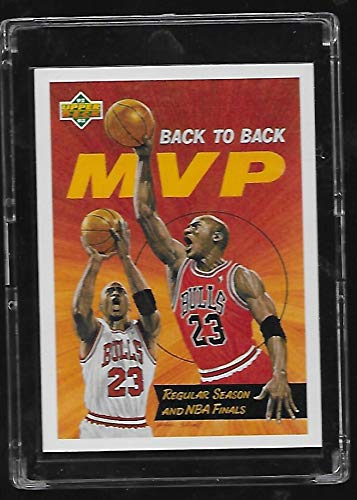 Michael Jordan 1992-93 Upper Deck Basketball Card # 67 - Back to Back NBA MVP - Stored in a Protective Plastic Display Case!! ()