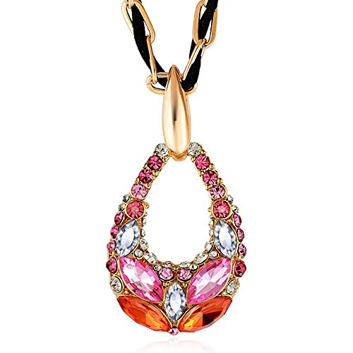 The Starry Night Dream Color Drop Style Romantic Crystal Cut Diamond Accented Necklace (80s Basketball Costume)