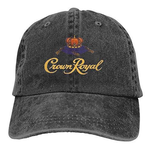 Crown Royal Adjustable Baseball Hat for Mens Caps Black (Crown Royal Cap)