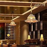 Industrial retro hemp rope chandelier clothing store health hall bar counter iron art personality light / 35x120cm