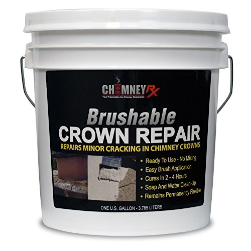 - CHIMNEYRX Brushable Chimney Crown Repair, 1 Gallon