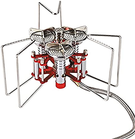 Bulin Camping Stove Cocina Estufa de gas 3 quemadores de alta potencia 5800W