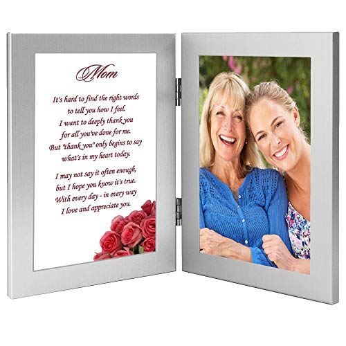Mom Gift from Daughter or Son for Birthday or Mother's Day - Poem in Frame, Add Photo
