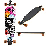 Best Choice Products 41in Professional Outdoor Maple Deck Longboard Cruiser Skateboard - Multicolor