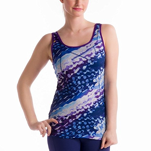 Lole Silhouette Up 2 Tank Top (Persian Blue Polka Dot) Size: X-Large