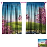 Best Greenland Home Home Fashion Pinks - Anniutwo Princess Waterproof Window Curtain Fairy Tale Landscape Review