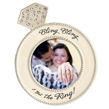 Amazoncom Diamond Ring Shaped Frame Bling Bling I Got The Ring