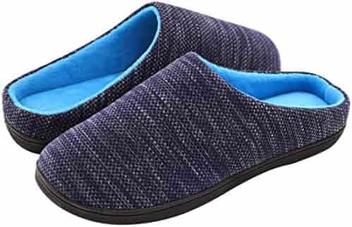 d20d83ab0d3 RockDove Men s Birdseye Knit Memory Foam Slipper