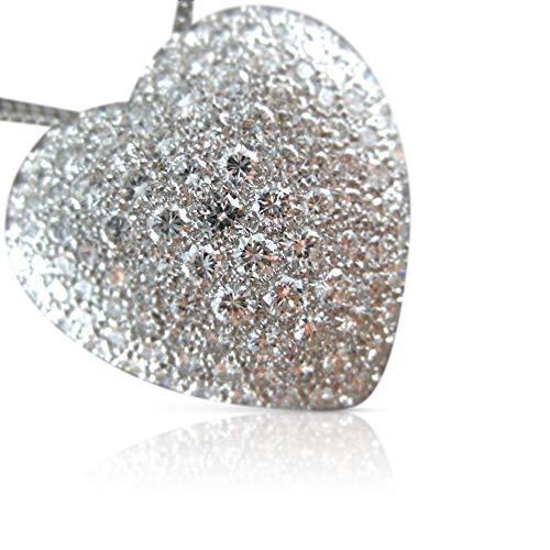 Milano Jewelers Large 6.50CT Diamond Platinum Pave Heart Brooch/Pendant E/F VVS #21624 ()