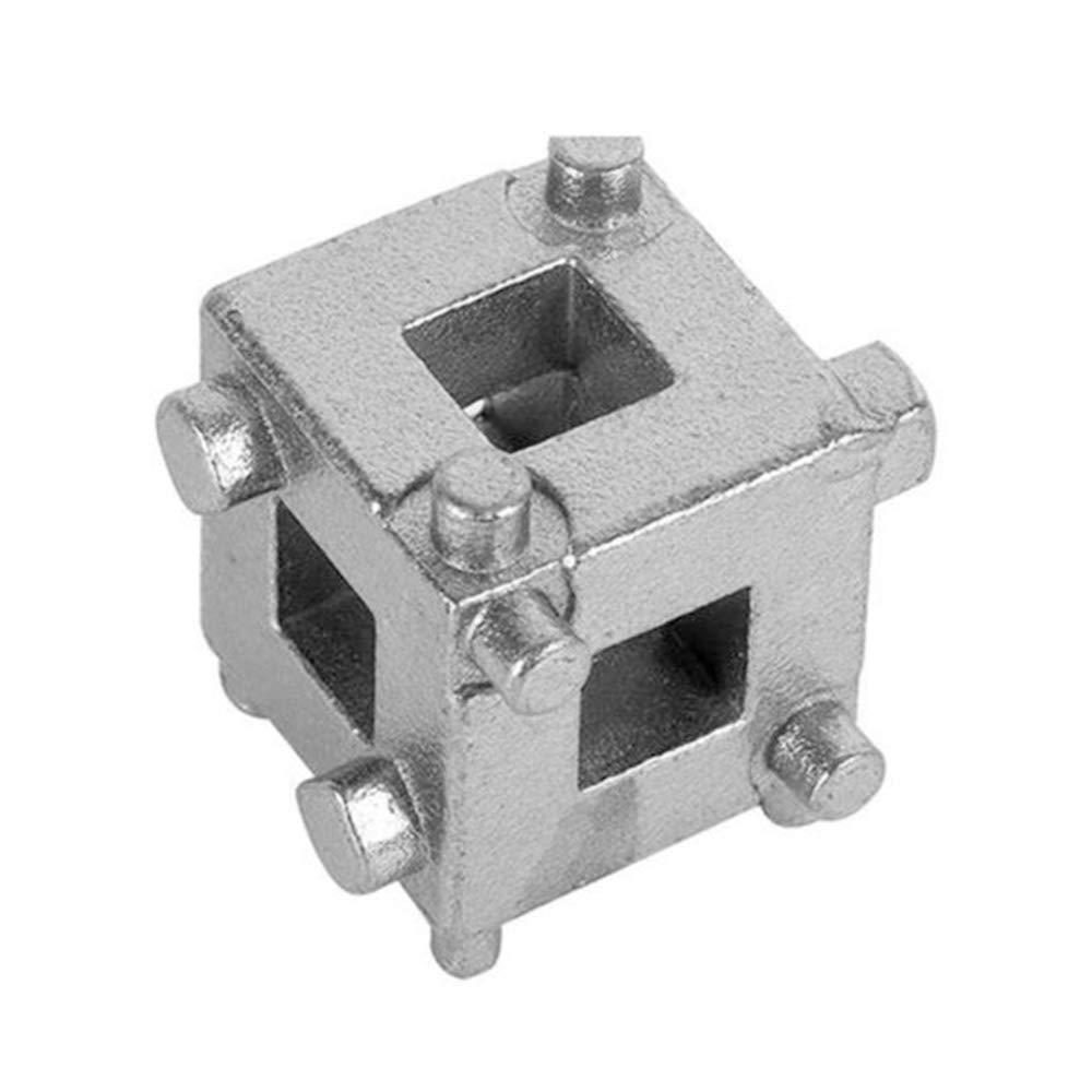 Merssavo Car Rear Disc Brake Piston Retractor Tool Carbon Steel Cube Calliper Adaptor Cylinder Piston Adjustment Tools Car Repair Accessories