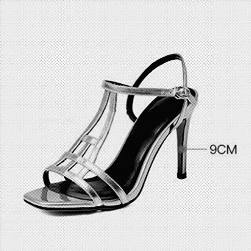 Taille Couleur Chaussures Escarpin Sandales MUMA EU36 Fine Rose Sexy CN35 Tête Talons Argent UK3 Or 5 Femme Poisson Talon qOOwnPS