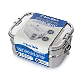 Stainless Steel Bento Lunch Box. 3-In-1 Ecofriendly Durable Lunchbox Perfect for Kids and Adults. Holds more than 6 Cups of Food. Leak-Proof Compartment. Stainless Steel Cutlery Included
