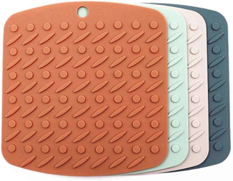 UPKOCH Multifunktionale Silikon-Isolationsunterlage W/äRmeisolationsunterlage Rutschfeste Tischset K/üChentisch Tasse Matte Topfschale Pink