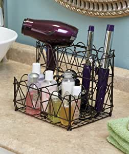 Countertop hair care organizer bronze home for Furniture xo out of business