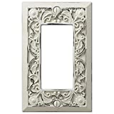 Filigree Antique White Cast 1 Rocker Wallplate