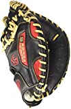Louisville Slugger Omaha S5 Scarlet Catcher's Mitt Black with Scarlet