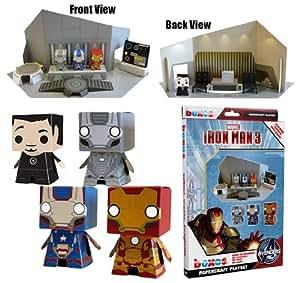 "'Iron Man 3' Boxos Papercraft ~4"" Figure Playset"