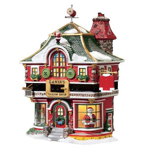 Department 56 North Pole Village Santas Tailor Shop Lit Building