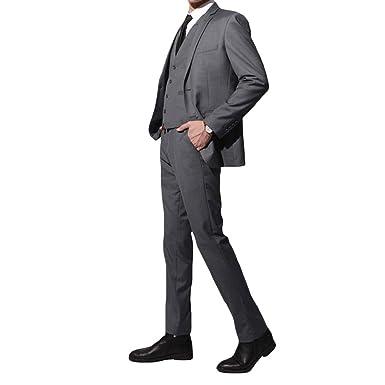 e0a8d8c5ab562 YIMANIE フォーマルスーツ メンズ スリーピース セットアップスーツ ブラックスーツ 一つボタン 二つボタン ビジネス