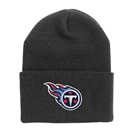 67d989577a78f Image Unavailable. Image not available for. Color  Tennessee Titans Black  Cuff Beanie Hat - NFL Cuffed Winter ...